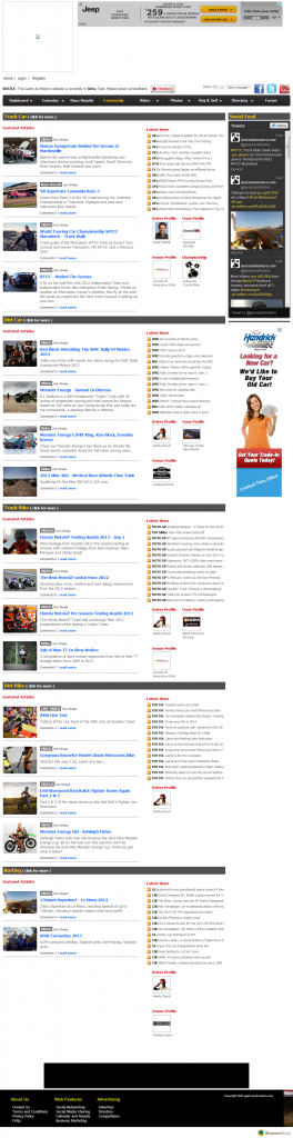Motor Sport Social Network