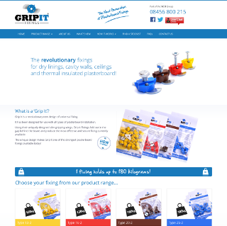 Gripit Fixings - Product Website