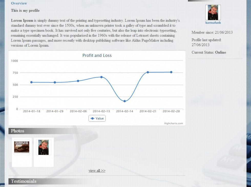 My Trades Social Network Web Design