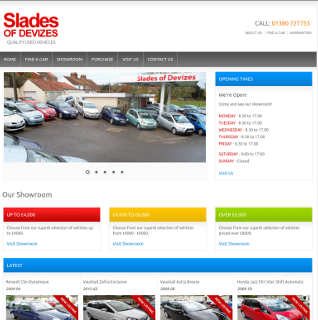 Slades – Car Showroom Website